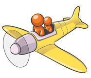 Design Mascot Airplane Royalty Free Stock Photo