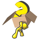Design Mascot Box Question Royalty Free Stock Images