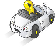 Design Mascot Car Royalty Free Stock Photography
