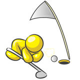 Design Mascot Cheating Golf Stock Image
