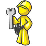 Design Mascot Contractor Wrench Stock Photos