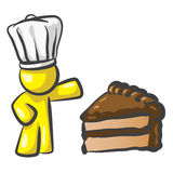 Design Mascot Cook Cake Royalty Free Stock Image