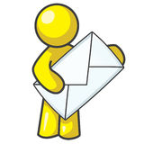 Design Mascot Envelope Royalty Free Stock Image