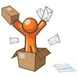 Design Mascot Going Postal Stock Image