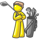 Design Mascot Golf Player Royalty Free Stock Photo