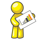 Design Mascot Holding Chart Royalty Free Stock Photography