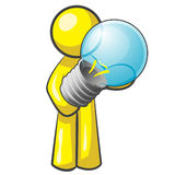 Design Mascot Lightbulb Stock Photos