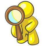 Design Mascot Magnifying Down Royalty Free Stock Image