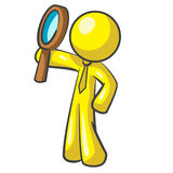 Design Mascot Magnifying Up Stock Image
