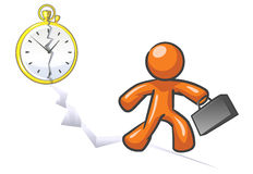 Design Mascot Out of Time.  Royalty Free Stock Image