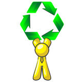 Design Mascot Recycle Arrows Royalty Free Stock Photos