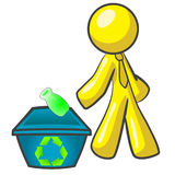 Design Mascot Recycling Stock Photography