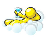 Design Mascot Sitting Clouds Royalty Free Stock Photo