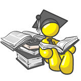 Design Mascot Student Book Royalty Free Stock Photo