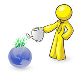 Design Mascot Watering Earth Stock Photos