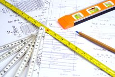 Design and Measuring Instruments Royalty Free Stock Photo