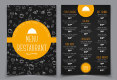 Design a menu for a cafe or restaurant. Royalty Free Stock Image
