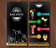 Design menu for cocktail bar in the corporate style. Stock Photo