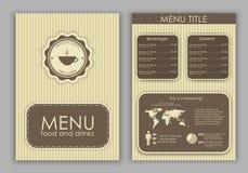 Design a menu for coffee vector illustration