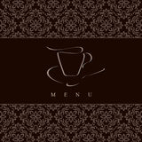Design menu. Concept for coffeehouse Stock Image