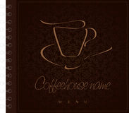 Design menu. Concept for coffeehouse Royalty Free Stock Images