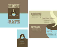 Design of menu and logo for restaurant Stock Images