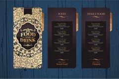 Design menu for restaurants. Menu design template. Background texture menu Stock Images