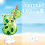 Design a menu for summer drinks Royalty Free Stock Images