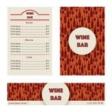 Design menu for wine bar. Stock Photo