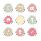 Design Metal Icon Stock Images