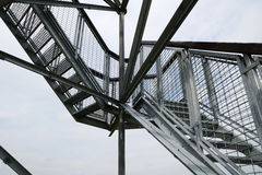 Design of metal staircase Royalty Free Stock Photo