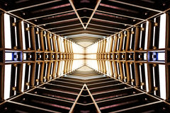 Design of metal structure similar to spaceship interior, perspec. Tive view Royalty Free Stock Photos