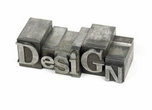 Design metal word Stock Images