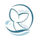 Design mit abstraktem Symbol des Wals und Meer bewegen wellenartig Auch im corel abgehobenen Betrag lizenzfreie abbildung