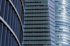 Design mit drei Gebäuden Stockbild
