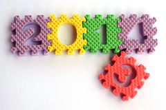Design mit 2014 Texten Stockfotos