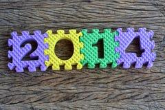 Design mit 2014 Texten Lizenzfreie Stockfotos