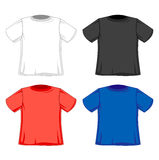 Design models of t-shirts Royalty Free Stock Photo