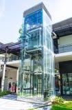 design modern elevator glass Stock Photos