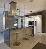 Kitchen. Design modern kitchen, interior design stock photos