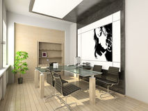 Design of modern office. Hi-tech interior. Stock Photo