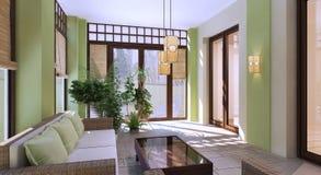 Design of modern summer terrace Stock Images
