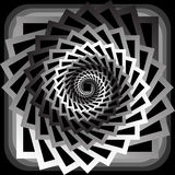 Design monochrome abstract spiral movement background Royalty Free Stock Photography