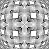 Design monochrome decorative geometric pattern Stock Photo
