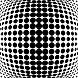 Design monochrome dots background Stock Images