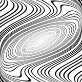 Design monochrome ellipse movement background Stock Images