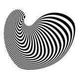 Design monochrome illusion background Stock Image