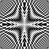 Design monochrome illusion checkered background Royalty Free Stock Photos