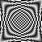 Design monochrome illusion checkered background Royalty Free Stock Image