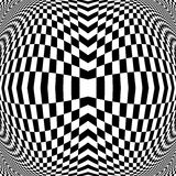 Design monochrome illusion checkered background Royalty Free Stock Images